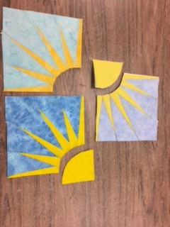 Ready to add the circular part of the sun